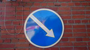Светодиодный знак повышенной яркости Объезд препятствия 4.2.1/4.2.2 (импульсная стрелка)