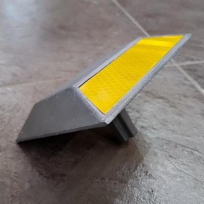 Катафот дорожный КД-3 алюминиевый ГОСТ 32866-2014