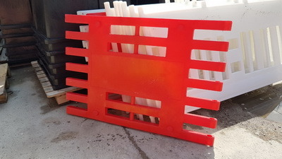 Ограждение Арго (передвижное пластиковое ограждение штакетного типа)