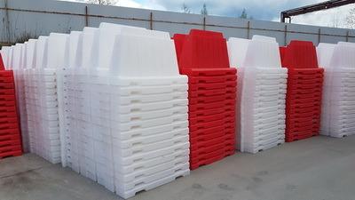 Вкладывающийся дорожный пластиковый барьер (водоналивной блок) 1.2м