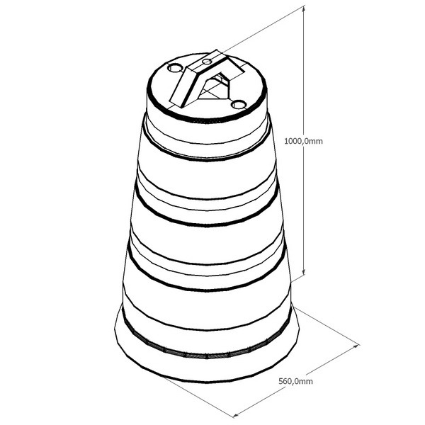 Буфер конусный 1000мм x 560мм