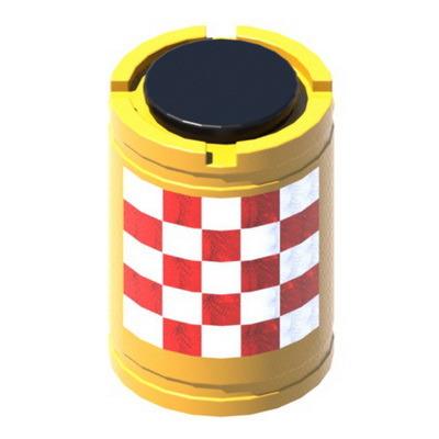 Буфер дорожный сигнальный 580x580x825мм