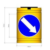 буфер разделительный, баррел, barrel, буфер бочка, сигнальный буфер дорожный