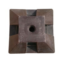 фундамент для стойки Ф2, пластиковая подставка, бетонное основание под дорожный знак, подставка под заливку бетоном, основа бетонная, переносная опора для стойки дорожного знака
