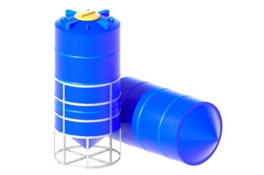 конические бункеры, пластиковые емкости