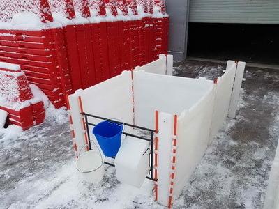 пластиковый бокс для телят, пластиковый домик для содержания телят,   домик для теленка, бокс для группового содержания телят, calf hutch, calf house, group calf house