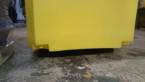 Буфер дорожный разделительный 920x1200x1250 (водоналивное дорожное ограждение), Дорожная тумба