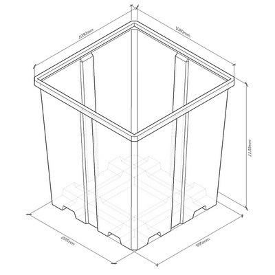 c1000 емкость вертикальная пластиковая