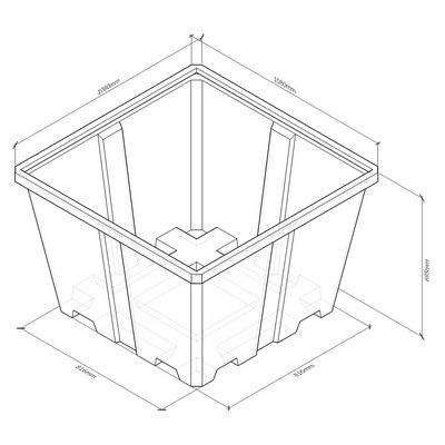 универсальный контейнер, емкость пластиковая, бак для дизельного топлива, бочка для воды