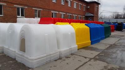цветные домики для телят