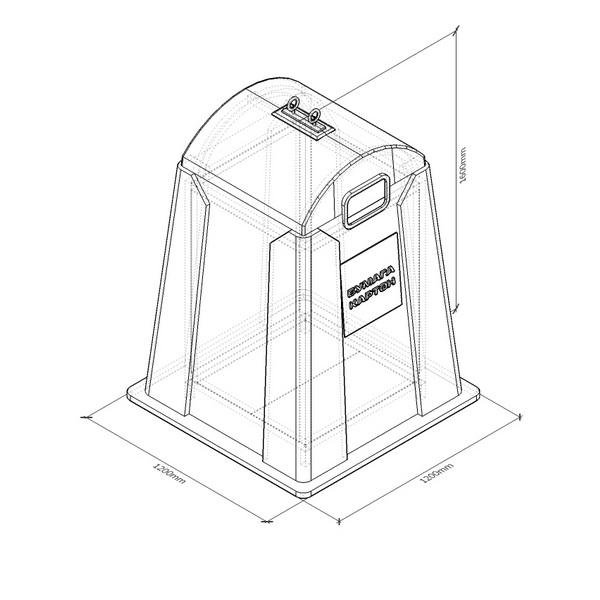 Контейнер для раздельного сбора отходов (РСО) СМ1200
