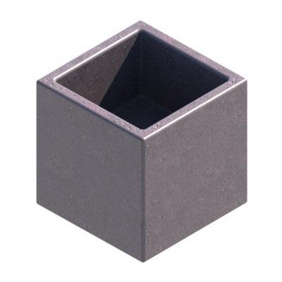 кубик декоративный 450мм с углублением, вазон ваза