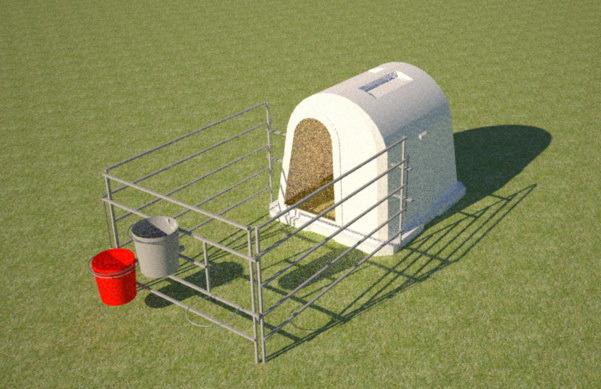 Пластиковый домик для содержания телят эргономичной формы 1500мм