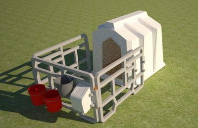 Пластиковый домик для содержания телят стандартной формы 1500мм