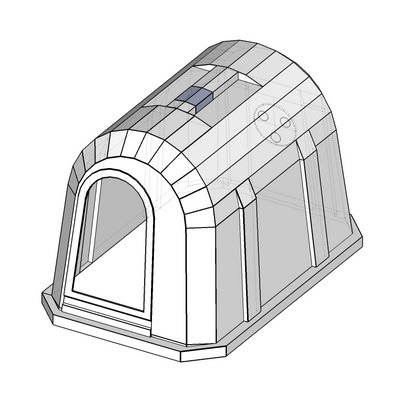 пластиковый   домик для содержания телят,   домик для теленка, бокс для содержания телят, calf hutch, calf house, group calf house
