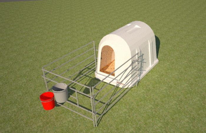 Пластиковый домик для содержания телят эргономичной формы 2000мм