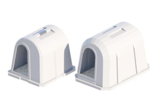 пластиковые индивидуальные домики для телят эргономичной формы
