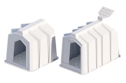 пластиковые индивидуальные домики для телят стандартной формы