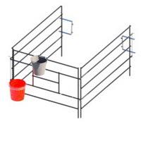 Металлические и пластиковые вольеры для домиков для телят