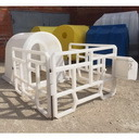 Пластиковый вольер домик для телят Групповой домик для телят, боксы для группового содержания телят