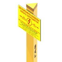 Столбики треугольные и квадратные для обозначения трасс газопроводов, нефтепроводов, линий связи