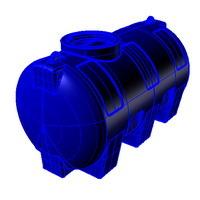 h1000 емкость вертикальная пластиковая