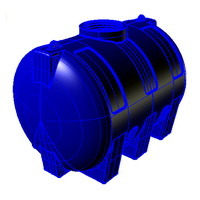h2000 емкость вертикальная пластиковая