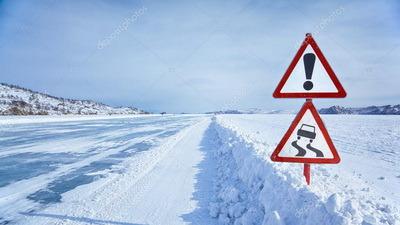 столбики и вехи для обозначения зимников и ледовых переправ