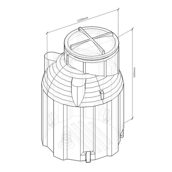 k1500 емкость вертикальная пластиковая