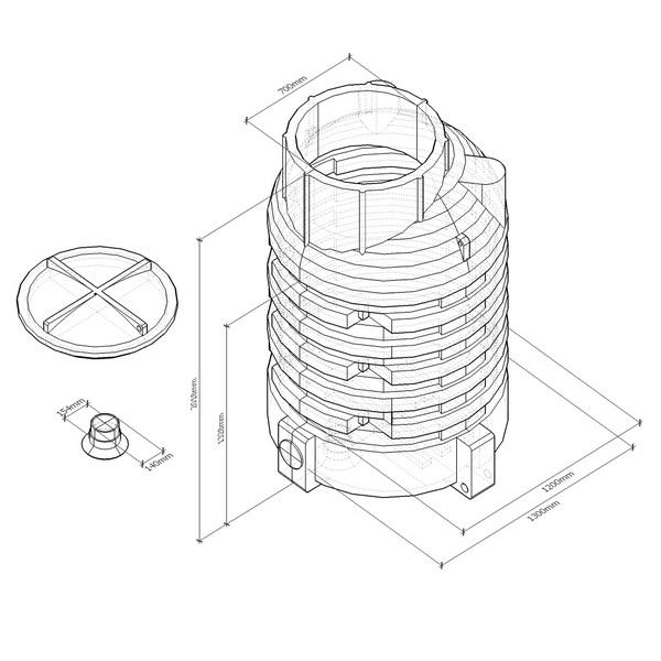 k2400 емкость вертикальная пластиковая