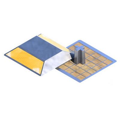 Световозвращатель КД3 алюминиевый ГОСТ 32866-2014 желтый, белый