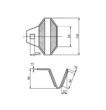 КД-5 катафот световозвращающий ГОСТ 32866 50971