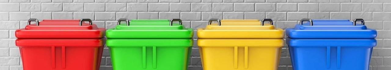 Контейнеры для мусора, мусорные баки, универсальные пластиковые контейнеры
