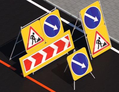 Переносные временные складные опоры для дорожных знаков