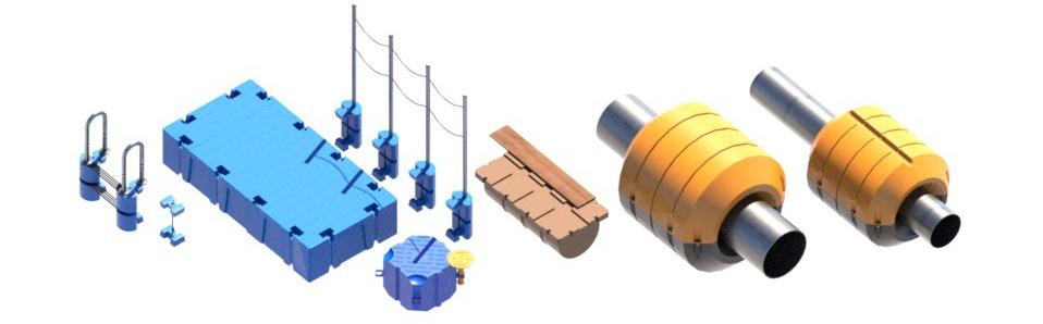 понтон модульный пластиковый, модуль плавучести