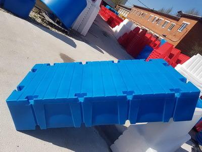 Понтон модульный пластиковый 2000x1000x400мм
