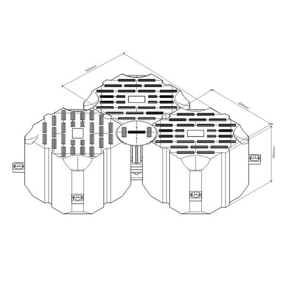 понтон модульный пластиковый, модуль плавучести, SF II