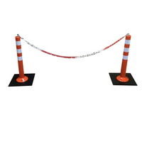 пластиковая оградительная цепь, парковочный столбик, временное ограждение