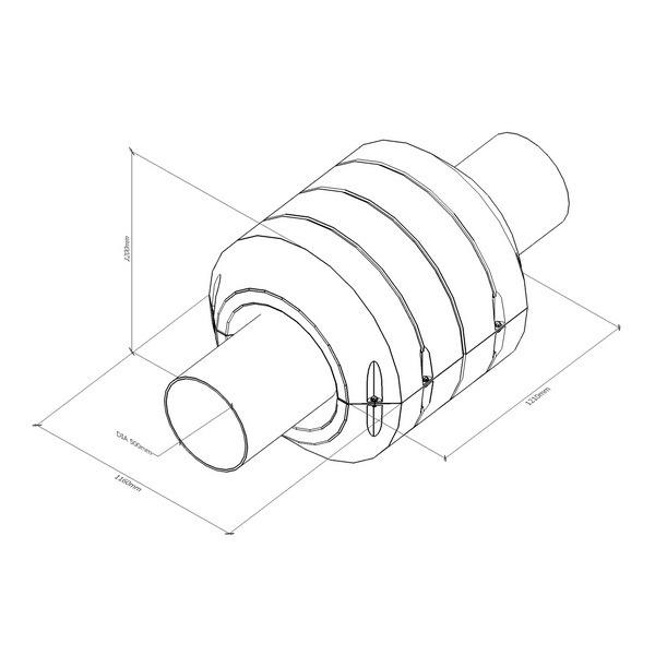 Поплавок для пульпропровода, поплавки с заполнением ППУ для трубопроводов, плавучие трубопроводы PF350