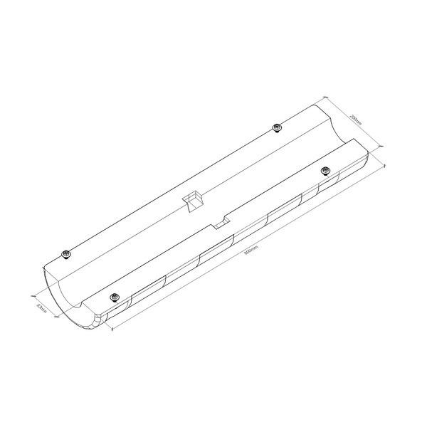Поплавок для пульпропровода, поплавки с заполнением ППУ для трубопроводов, плавучие трубопроводы PF76