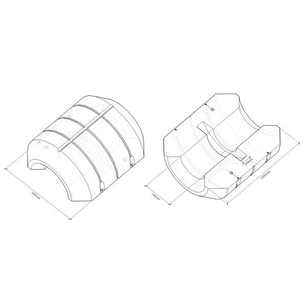 Поплавок для пульпропровода, поплавки с заполнением ППУ для трубопроводов, плавучие трубопроводы