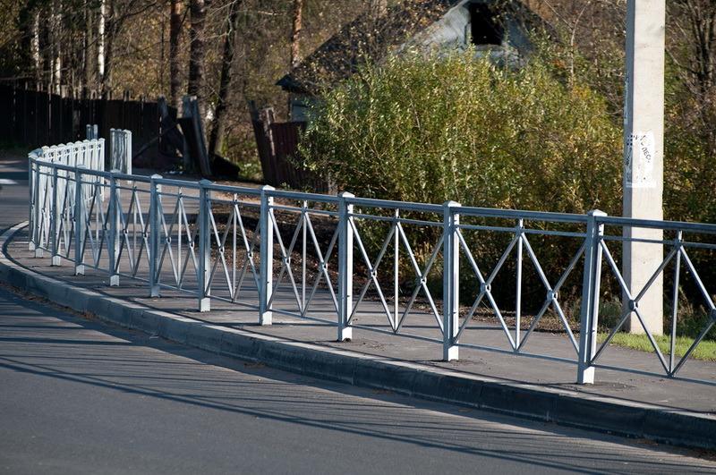 Пешеходные и газонные металлические ограждения ПО1, ПО2, ГО-1, ПО2 ОРУД