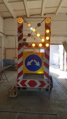 сигнальный прицеп прикрытия для дорожных ремонтных работ, ограждение для ремонта, снижение аварийности