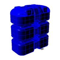 q1500 емкость вертикальная пластиковая