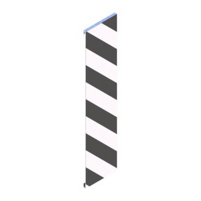 Вертикальная разметка из световозвращающей пленки на металлической основе 2.1.1, 2.1.2, 2.1.3