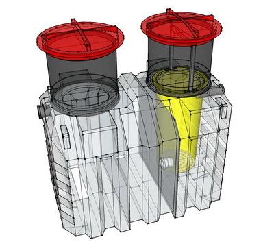 септик, емкость пластиковая, бак для дизельного топлива, бочка для воды