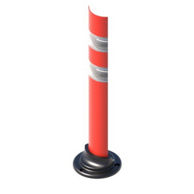 Дорожный сигнальный столбик С2П дугообразной формы для установки на проезжей части ГОСТ 32843