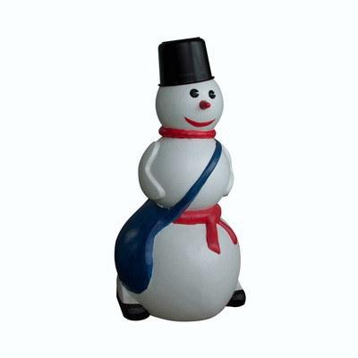 пластиковый декоративный снеговик