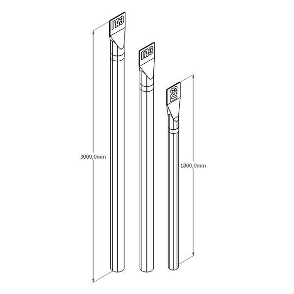Столбик СОС 2.2 СОС 2.5 (Столбик Опознавательный Связи) для кабельных линий связи