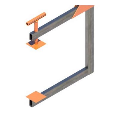 Стойка защитного ограждения 1200мм, защитное строительное ограждение